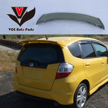 2008-2013 Fit Mugen Style ABS Plastic Material Unpainted Primer Rear Roof Spoiler for Honda Fit/Jazz