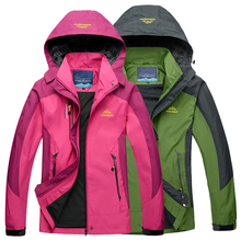 LoClimb Spring Men Women Waterproof Jacket Trekking Camping Rain Coat Fishing Windbreaker Mountain Climbing Hiking Jackets,AW119(China)