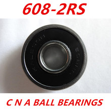 Free shipping 10pcs 608-2RS 608RS 608 2RS 8 * 22 * 7 mm double rubber sealing cover deep groove ball bearing