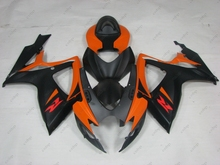 Bodywork GSX R750 06 Plastic Fairings GSX R750 2006 2006 - 2007 K6 Black Yellow Matter Fairing Kits GSXR 600 2007(China)