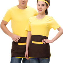 Kitchen Cooking Waist Apron Short Style Chef Waiter Aprons Pinafore Kitchen Cook Tool Universal Unisex Women Men