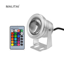 Waterproof IP68 10W Underwater light RGB LED lamp AC12V Pond Fish Tank Spotlight Bulb Swimming Pool Fountain Piscina Car lights(China)