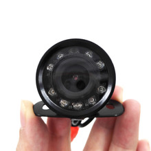 9led Waterproof Car Rear View CMOS Camera Super Mini Butterfly Parking Backup Reversing Cam without Parking Line(no cable)