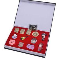 Гравити Фолз Билл Сайфер журнал Памятка ковыляет Цепочки и ожерелья брелок Гравити Фолз игрушки для детей 12 шт. комплект из коллекции(China)