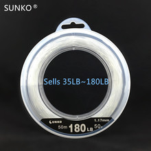 SUNKO Brand NO.50# 180LB Nylon Fishing Line Super Strong Monofilament Fishing Line Lure Rock Sea Fishing(China)