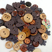 Wood Wooden Sewing Heart Shape Button Buttons Craft Scrapbooking  Kid's Scrapbooking DIY Craft Wedding Decoration Christmas