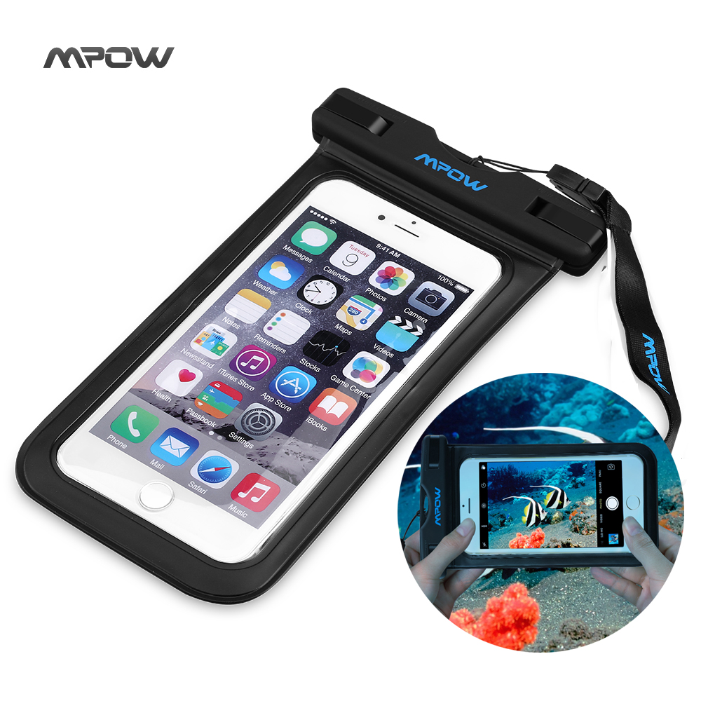 Mpow New Universal Waterproof Case for iPhone 6 Plus Smartphone Dry Bag Hiking Dirtproof Ski Snowproof Pouch for Android Xiaom(China (Mainland))