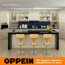 Kitchen Furniture Wooden Kitchen Cabinet with Lacquer Finish Kitchen Cabinets OP16-L12(China)