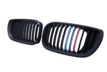 1 Pair M-Color NEW Matte Black Front  Kidney Grille Grills for BMW E46 Touring 3 Series 325i 330i 4 Door 2002-2005 C/5