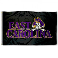 ECU Pirates Black College Large Outdoor Flag 3ft x 5ft Football Hockey College USA Flag(China)