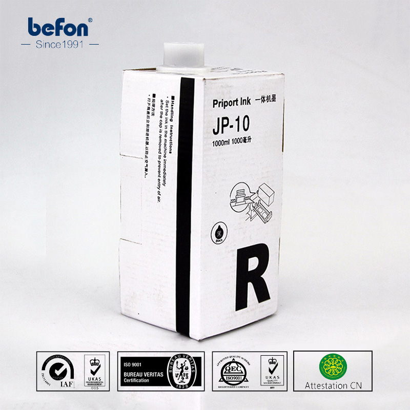 befon Duplicator Ink copyprinter ink JP-10 JP10 JP 10 for use in Ricoh Duplicator JP-5000<br>