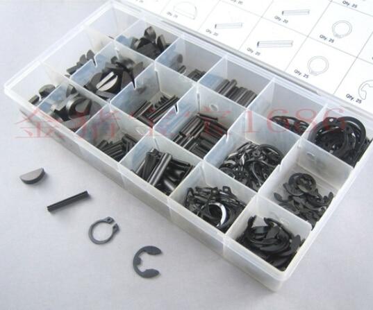 2015 big promotion460PC seal set / elastic type E circlip ring / half / / cotter pin / crescent type /C key / pin<br>