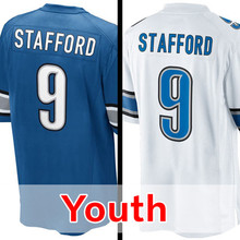 Youth #9 Matthew Stafford  Kid's  Rush Limited Stafford Embroidery Free Shipping S-XL
