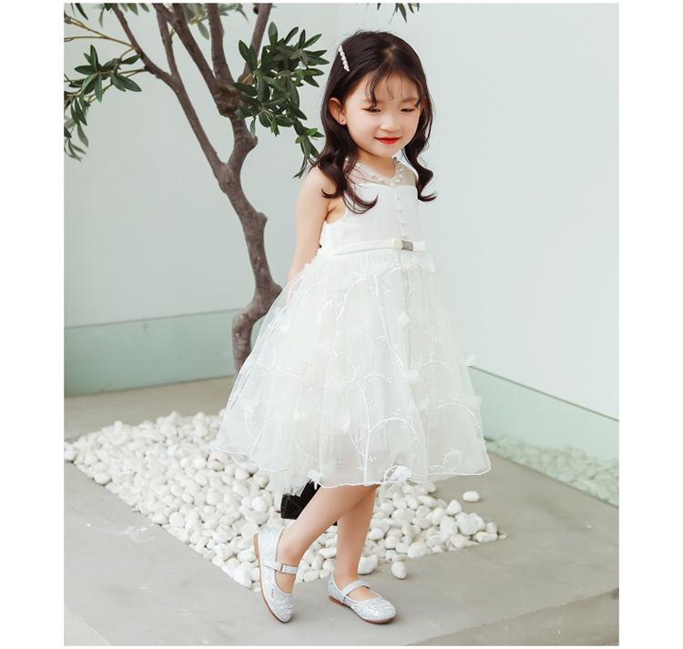 Children\`s leather Shoes 2019 New Flat Bottom Soft Rhinestone Comfortable Princess girls dress wedding Shoes kids single shoes