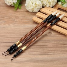 3pcs/set Top Quality Chinese Calligraphy Brushes Pen for Woolen and Weasel Hair Writing Brush Fit For Student School(China)