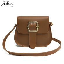 Aelicy PU Leather Women Messenger Bags High Quality Cross Body Bag Mini Fake Designer Handbags Vintage Crossbody Bags For Women(China)