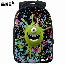 ONE2 New design laptop backpack bag fashion plastic backpack 3d teenager kids backpack with wheels european school backpack