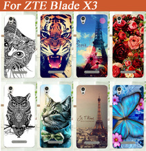 For ZTE Blade X3 tpu case cover Brilliant and Stand Design Hot Sale Colored Painting Hard mobile phone TPU case Free Shipping(China)