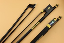 1pcs black Carbon fiber cello bow 4/4,cello accessories.Black horse Hair