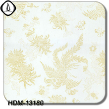 2017 New Design Golden Embroidery Pattern No.HDM13180 1M Width 10M Length DIY Hydrographics Water Transfer Printing Film(China)