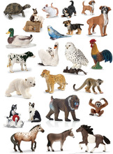 Original genuine wild life zoo jungle farm animals model series 2 kids educational toy for children gift(China)