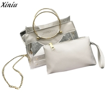 Fashion Women Bag Clear Shoulder Messenger Bags Jelly Candy Summer Handbag Mother Package High Quality Female bolsas feminina(China)