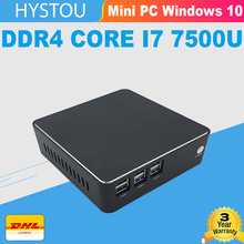 16 г DDR4 Core i5 7200U MiniPC Barebone Windows 10 Pro i7 7500u Intel HD Graphics 620 hystou неттоп i3 DHL Windows Mini PC i7(China)