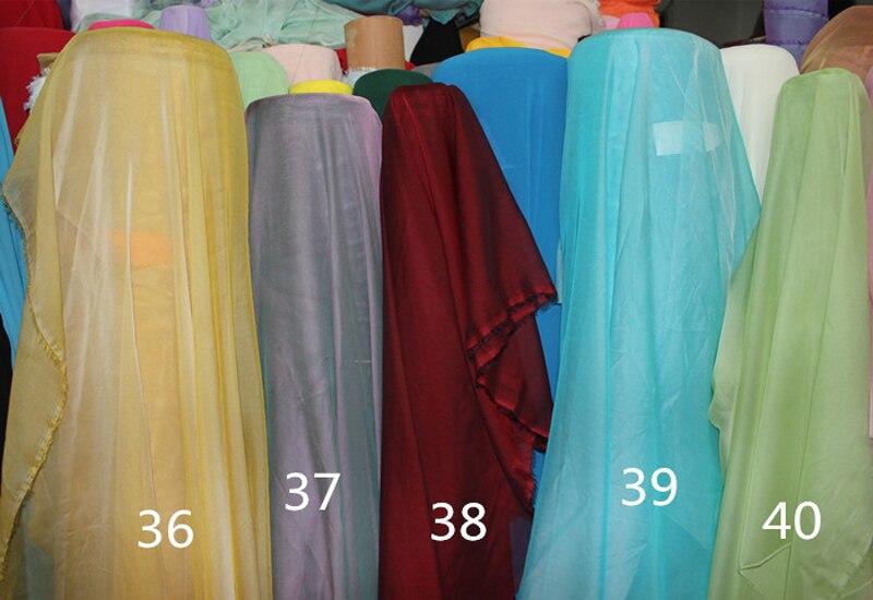Turquoise Cationic Chiffon Fabric