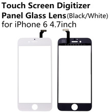 New Black White Touch Screen Digitizer Panel Glass Lens for iPhone 6 4.7 inch Cheap Display Front Replacement Parts Repair Part