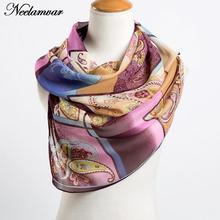 fashion women's chiffon cashew scarves new arrival 2017 Autumn and Winter casual wraps echarpe long silk feeling scarf ladies(China)