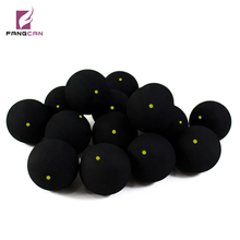 FANGCAN genuine single yellow squash ball high-end one yellow dot squash ball professional training black rubber ball low speed(China)