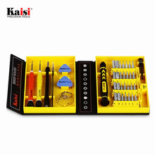 Kaisi 10Set 38 in 1 Multi Repair Tool Box Magnetic Opening Tools Kit Screwdriver for Cell Phone for iPhone 6 Plus 5S Notebook(China)