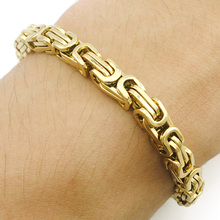 ATGO Gold Color Stainless Steel Bracelet Wristband Friend Hand Chain MENS JEWELRY Wholesale Fashion High Quality BB323