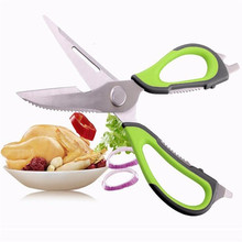 Kitchen Scissors Knife Multifunction Stainless Steel Fish Chicken Food Vegetable Slicer Chopper Shredder Cutter Cooking Gadget !(China)