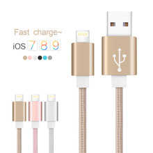 Cabel for iphone Metal Alloy USB Cable for iphone to USB Braid USB Cable for iPhone 6s/SE// 5s/6/plus Charging cable for iPad
