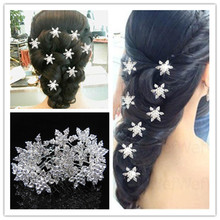 2014 New  Free Shipping 30pcs Fashion Hair Jewelry. Crystal Snowflake Twist Hair Pins,Wedding Party Bride Spiral Hair Pins