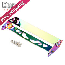 Free shipping dyno-Neo Chrome adjustable rotating number plate auto License plate frame license plate holder(China)