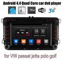 Android4.4 Car DVD CD radio stereo support wifi 3G BT GPS DAB+ DVR TPMS DTV OBDII For V/W p/assat j/etta p/olo g/olf