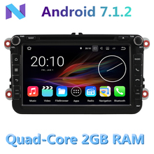 2GB RAM Android 7.1.2 Quad Core Car DVD Player for VW Polo sedan 4 5 6 Touran Jetta Passat cc b6 b7 Volkswagen GPS Radio Stereo(China)