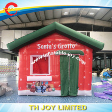 DDU inflatable santa house with free air blower / inflatable santa house tent/ inflatable christmas santa grotto for sale(China)