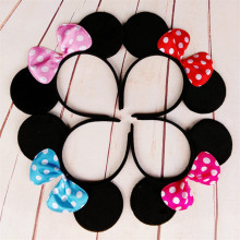 Cute mouse ears Bow Headband Hairband lovely birthday favors Elegant Hair Bands Holder Hoop headwear hair accessories(China)