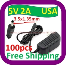 100 pcs Free Shipping 2A 5V AC Wall Power Charger ADAPTER w 3.5mm Cord for Velocity Micro Cruz Tablet(China)