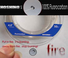 [HOSHINO] 50M*2pieces/lot 100% Fluorocarbon transparent Fishing Leader line for Braid Fishing Line(China)