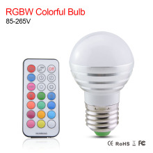 RGBW Led Bulb Lamp E27 Light Bulbs AC 110V 220V 5W RGB Spotlight Magic Color Holiday Bulb Lighting LED Remote Controller()