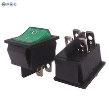 2 Pcs Rocker Switch 4 Plugs 30 * 25 * 27mm 16A 250V/ 20A 125V AC Electrical Equipment Switches Wholesale