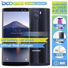 Doogee BL12000 pro 12000 мАч face id 128 ГБ 6,0 дюймов 18:9 смартфон с FHD + helio p23 Восьмиядерный четырех камер Android 7,0 4G moblie(China)
