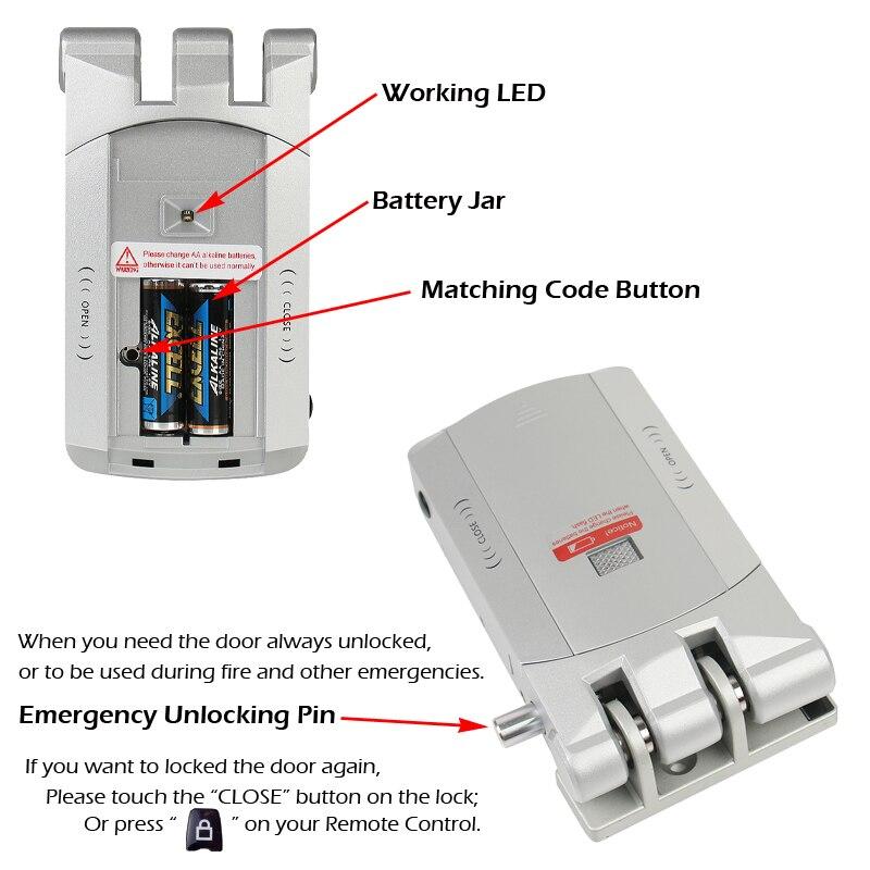 RAYKUBE Electric Door Lock Wireless Control With Remote Control Open & Close Smart Lock Security Door Easy Installing R-W03