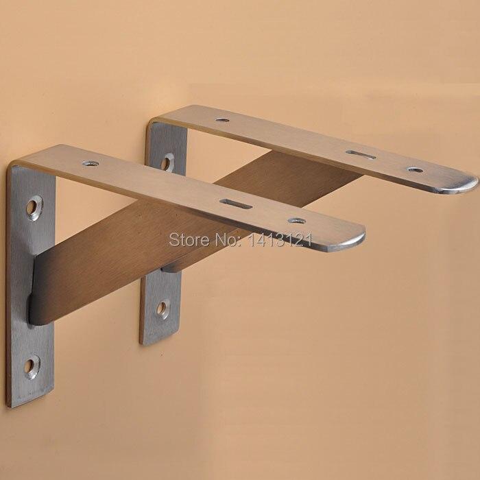 one thicken 35*25 stainless steel wall bracket household hardware part kitchen storage support shelf triangle bulkhead stand<br>