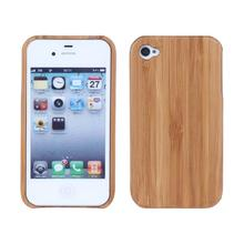 i4 Laser pattern Phone case For Apple iphone 4 4S Case Laser pattern Wood Phone Case Wooden Hard Shell Cover For Apple iphone4(China)