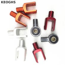 Keoghs Motorcycle Rear Shock Absorbers 10mm Eyelet Round Split End Exchange For Modify Shock For Honda Yamaha Kawasaki Suzuki